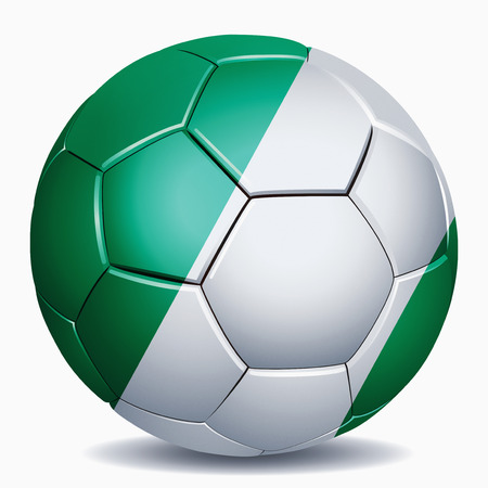 Nigeria flag on soccer ball