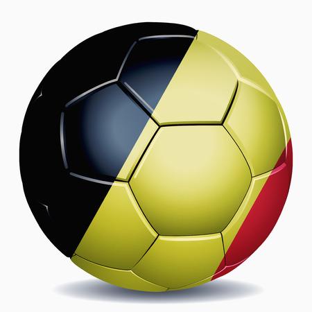 Drapeau de la Belgique sur un ballon de football Banque d'images - 26736983