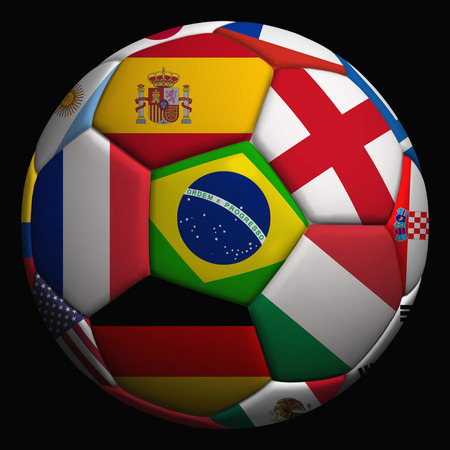 Flags on a soccer ball photo