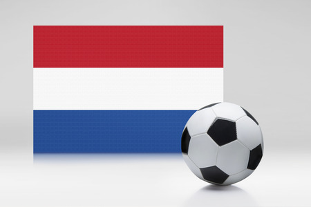 the netherlands: Netherlands flag with a soccer ball