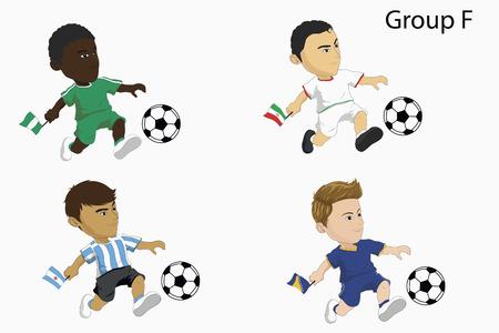 Cartoon soccer team Vector