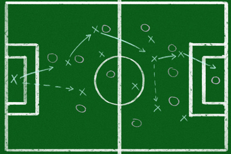 Soccer game strategy photo