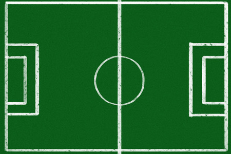 Empty soccer game strategy photo