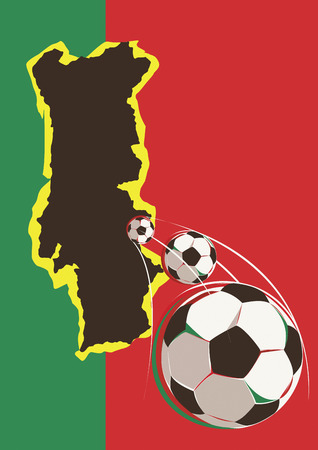 Geography of Portugal soccer team Иллюстрация