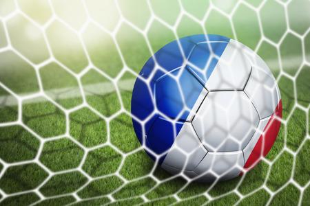 soccer goal: France soccer ball in goal net