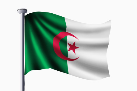 algeria: Algeria flag waving