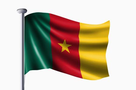 cameroon: Camerun sventola bandiera Archivio Fotografico