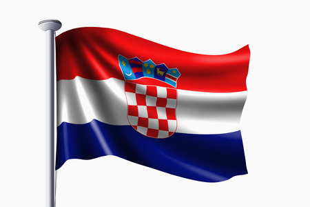 bandera de croacia: Croacia bandera ondeando