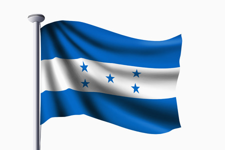 bandera honduras: Bandera de Honduras ondeando