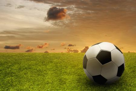 競技場でサッカー ボール