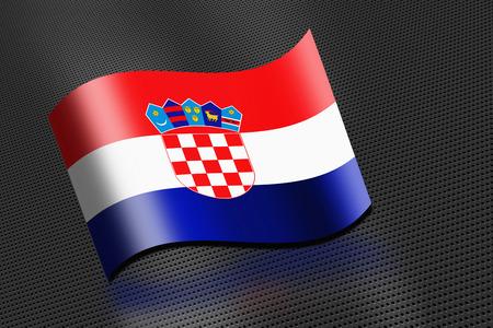 Croatia flag waving