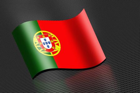 drapeau portugal: Portugal drapeau flottant Banque d'images