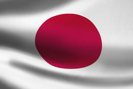 Japan vlag zwaaien
