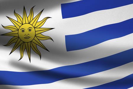 uruguay flag: Uruguay flag waving