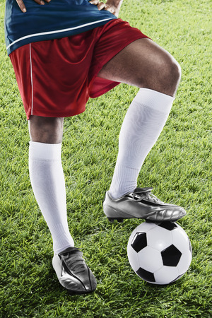 masculinity: Costa Rica soccer player ready for kick off