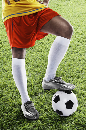 kick off: Ecuador soccer player ready for kick off Stock Photo