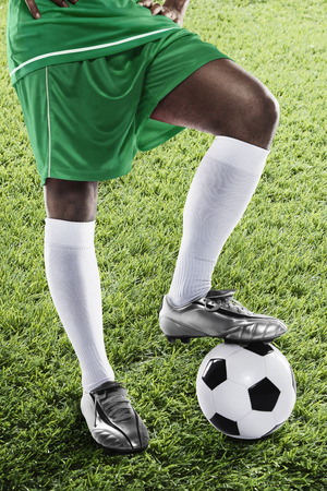 kick off: Nigeria soccer player ready for kick off