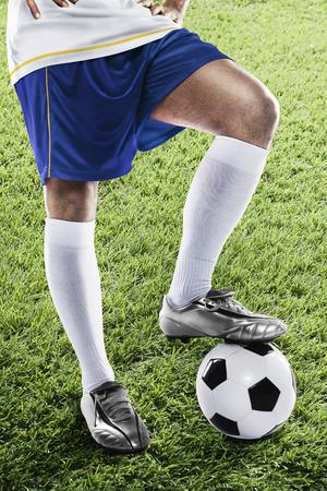 bandera de uruguay: Uruguay futbolista listo para kick off