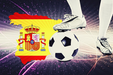 kick off: Spain soccer player ready for kick off