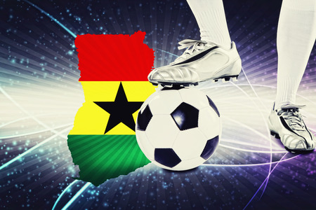 kick off: Ghana soccer player ready for kick off