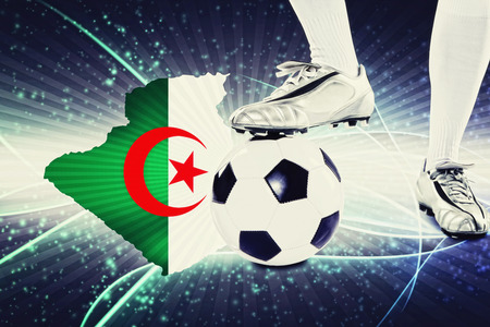 kick off: Algeria soccer player ready for kick off