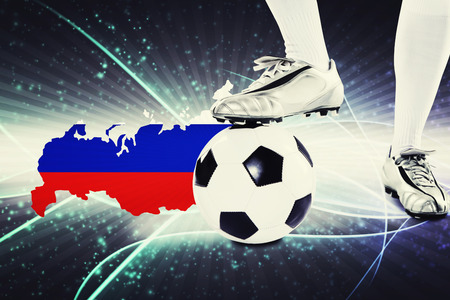 kick off: Russia soccer player ready for kick off