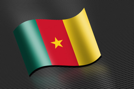 cameroon: Cameroon flag waving