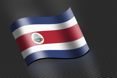 costa rica: Costa Rica flag waving