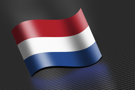 the netherlands: Netherlands flag waving Stock Photo