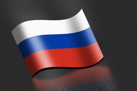 bandera rusia: Bandera de Rusia que agita Foto de archivo