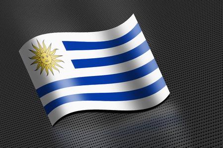 Uruguay flag waving