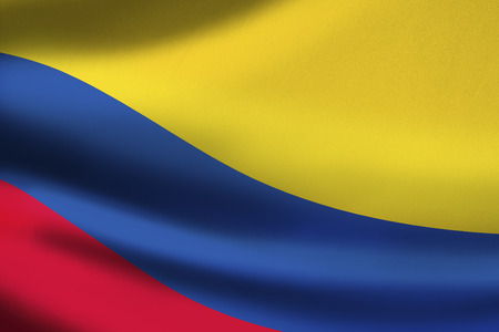 Colombia flag waving photo