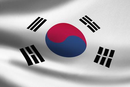 Korea Republic flag waving Stok Fotoğraf