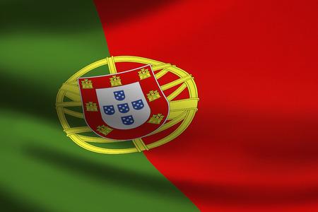 Portugal flag waving Фото со стока