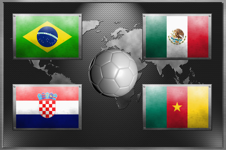 Soccer team for Group A Imagens