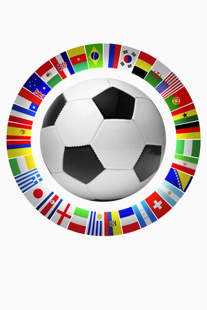 Flags for representing football teams photo