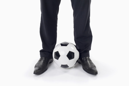 Soccer manager with a ball photo