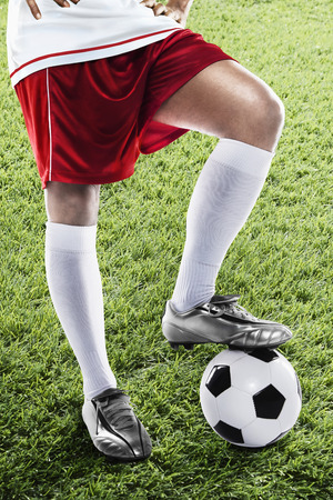 kick off: England soccer player ready for kick off