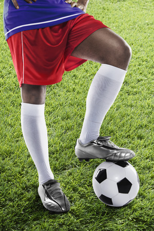 masculinity: France soccer player ready for kick off
