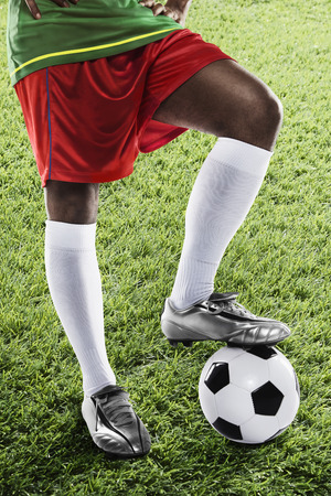masculinity: Portugal soccer player ready for kick off