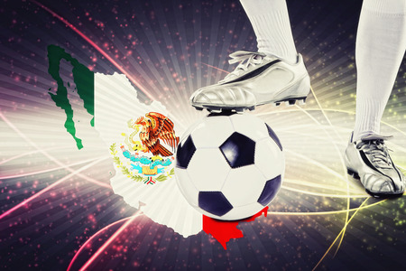 kick off: Mexico soccer player ready for kick off Stock Photo