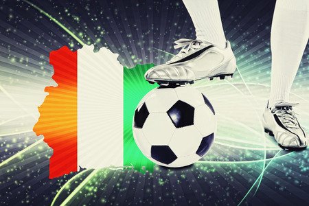 kick off: Ivory Coast soccer player ready for kick off