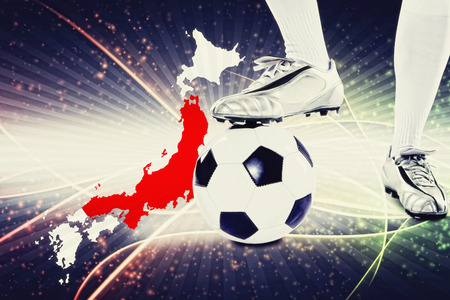 kick off: Japan soccer player ready for kick off Stock Photo