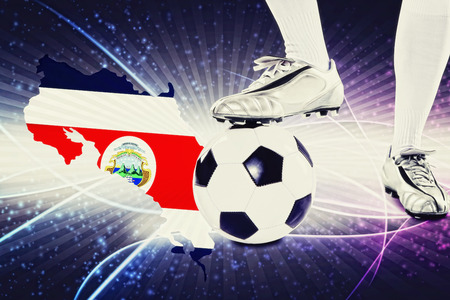 kick off: Costa Rica soccer player ready for kick off