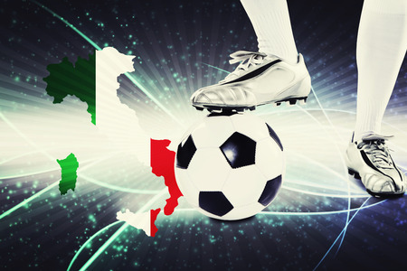 kick off: Italy soccer player ready for kick off Stock Photo