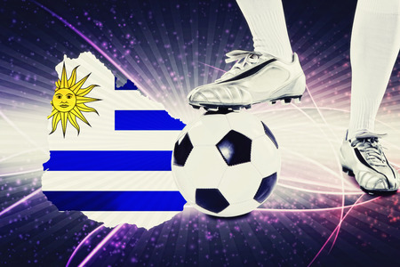 kick off: Uruguay soccer player ready for kick off