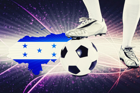 kick off: Honduras soccer player ready for kick off