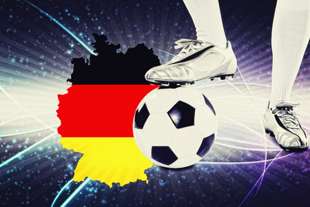 kick off: Germany soccer player ready for kick off