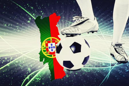 kick off: Portugal soccer player ready for kick off