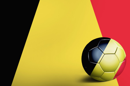 the sovereign: Belgium flag with soccer ball